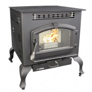 US Stove - 6041 Multi-Fuel Stove on Legs - 2,400 Sq. Ft.