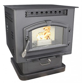 US Stove - 6041 Multi-Fuel Stove on Pedestal - 2,400 Sq. Ft.